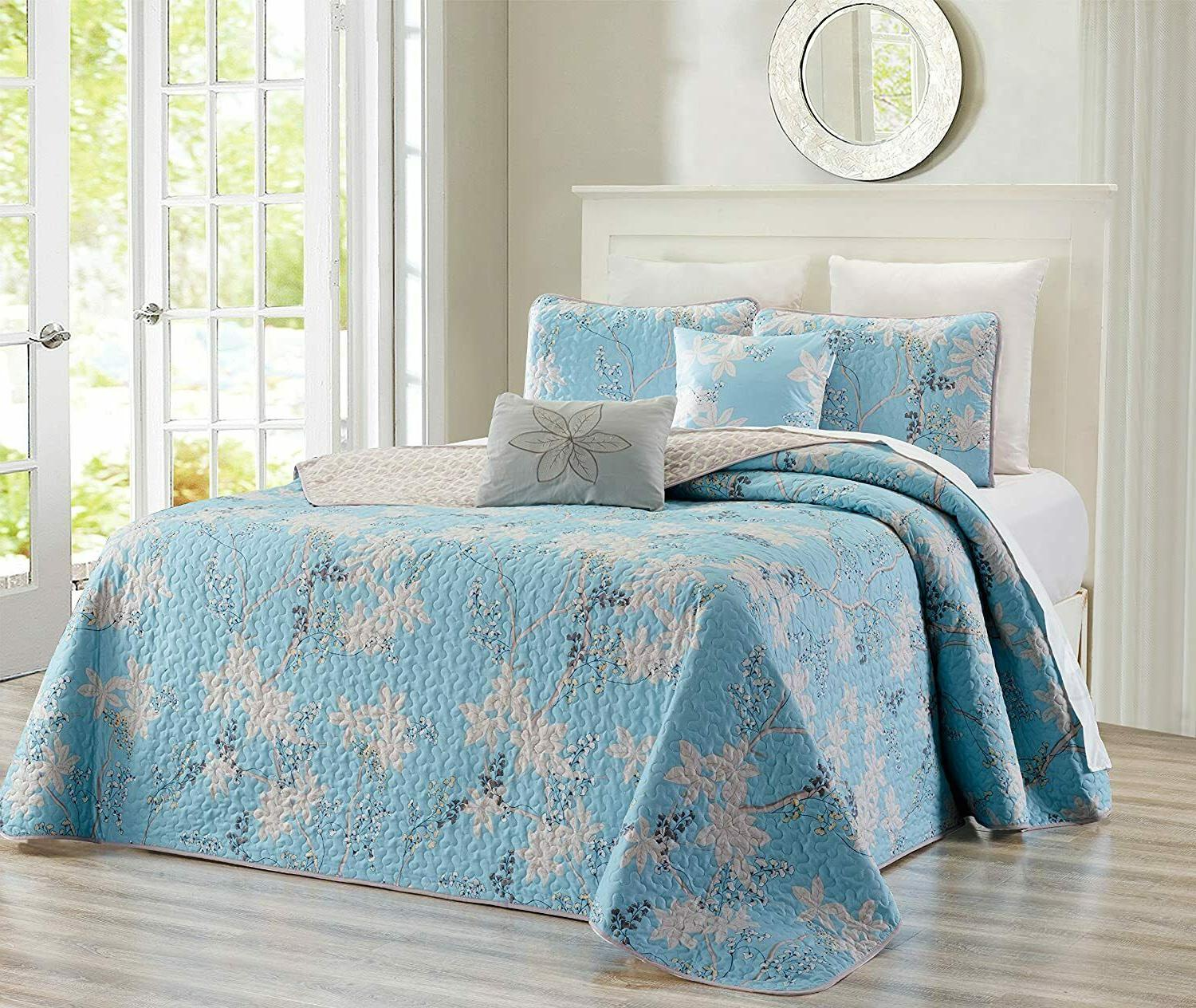 cal king 5 piece fine printed chic