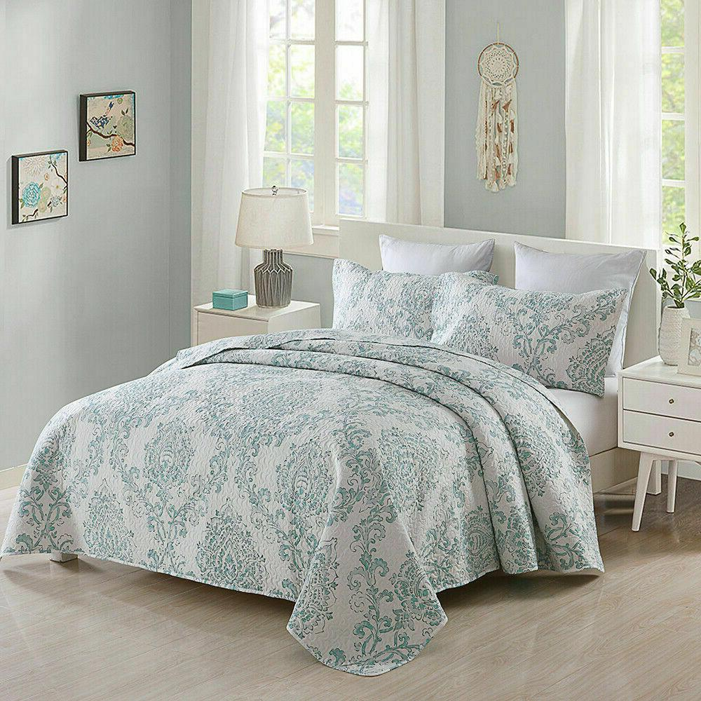3-Piece Blooming Patchwork Bedspreads