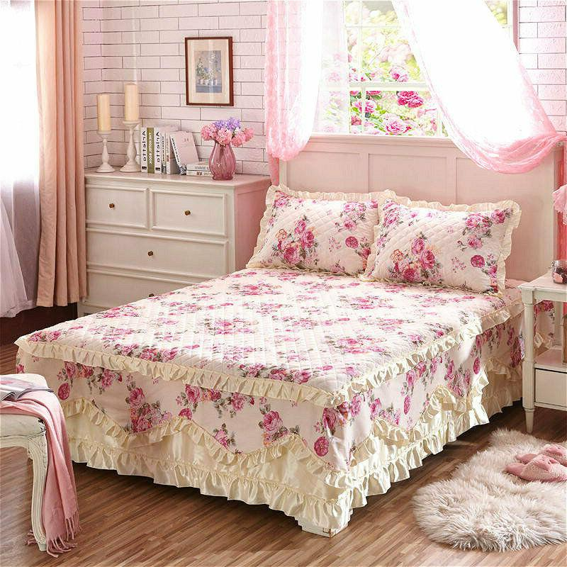 Cotton Thick Skirts Sheet Full Cases