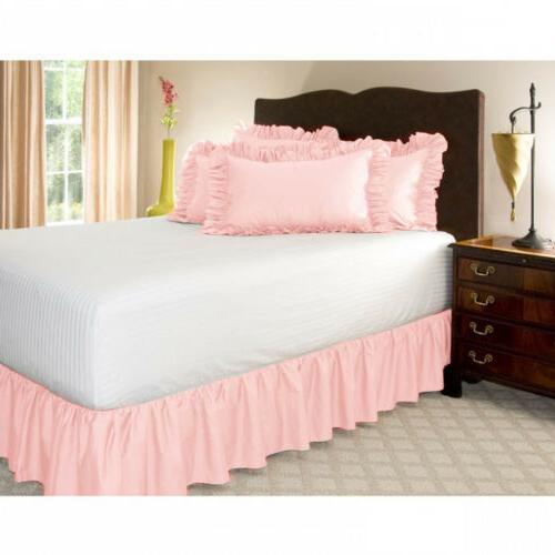 Elastic Bed Skirt Dust Ruffle Wrap Covers Full King