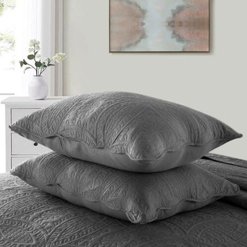 Ultra Soft Quilt Sham Bedding Set Coverlet Flower