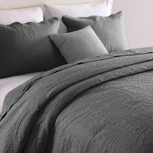 3-Piece Embossed Set Bedspread Set