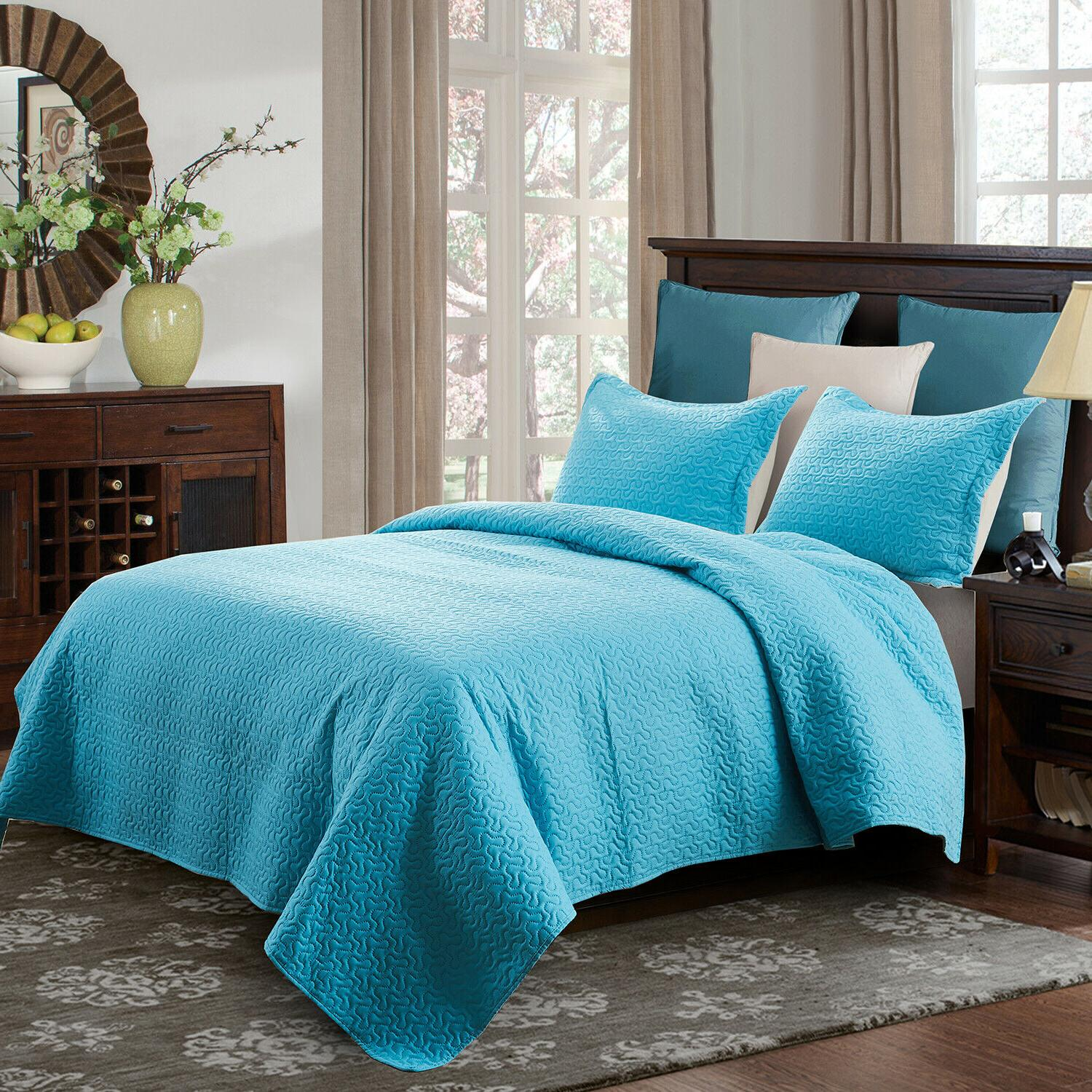 Embossed Bedspread Quilt Set Queen King
