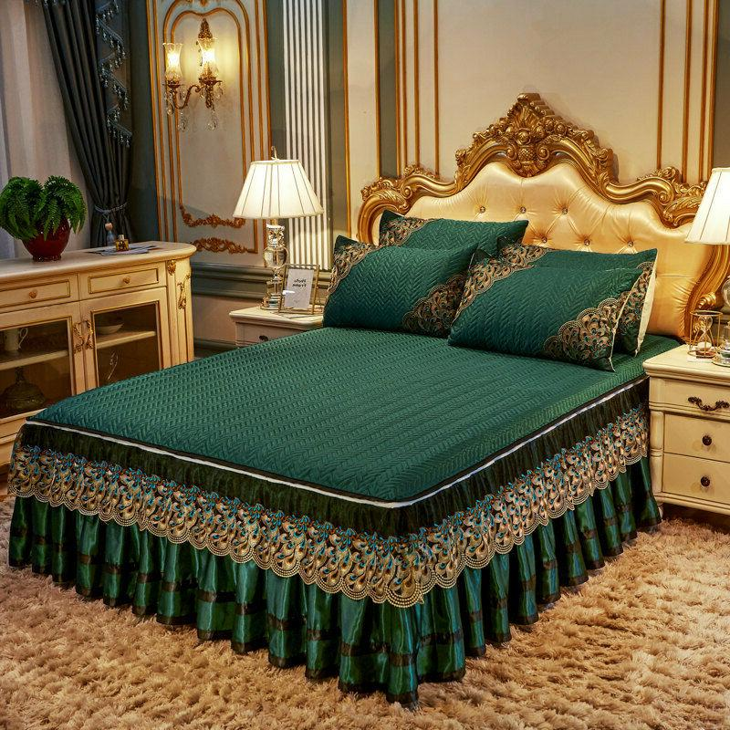 europe lace solid summer bedspread quilted cool