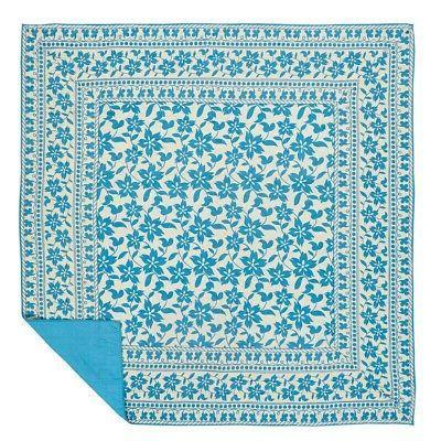 VHC Brands Floral Bed Quilt Sage