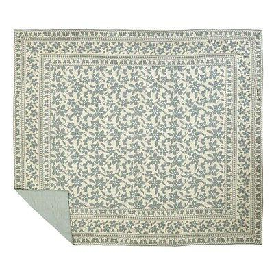 VHC Floral Bed Quilt Twin Patchwork Sage