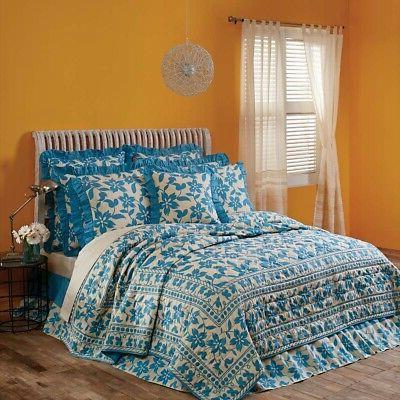 VHC Brands Floral Quilt King Patchwork or Sage
