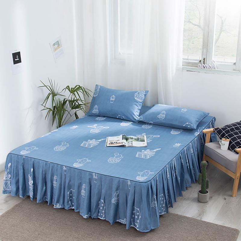 <font><b>Bed</b></font>-<font><b>skirt</b></font> <font><b>Bed</b></font> Fitted Sheet <font><b>Bedspread</b></font> Spread Covers For Modern Twin