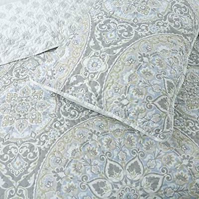 Cozy Line Home Gray Reversible Bedding Quilt Set Bedspread...