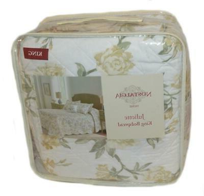 home juliette floral scalloped king bedspread new