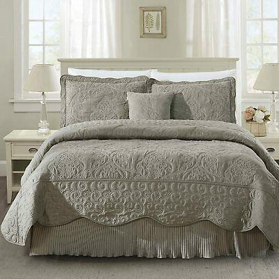 Home Soft Things Damask 4 Piece Bedspread Set,