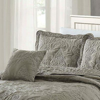Home Soft Damask 4 Set, King, Gray