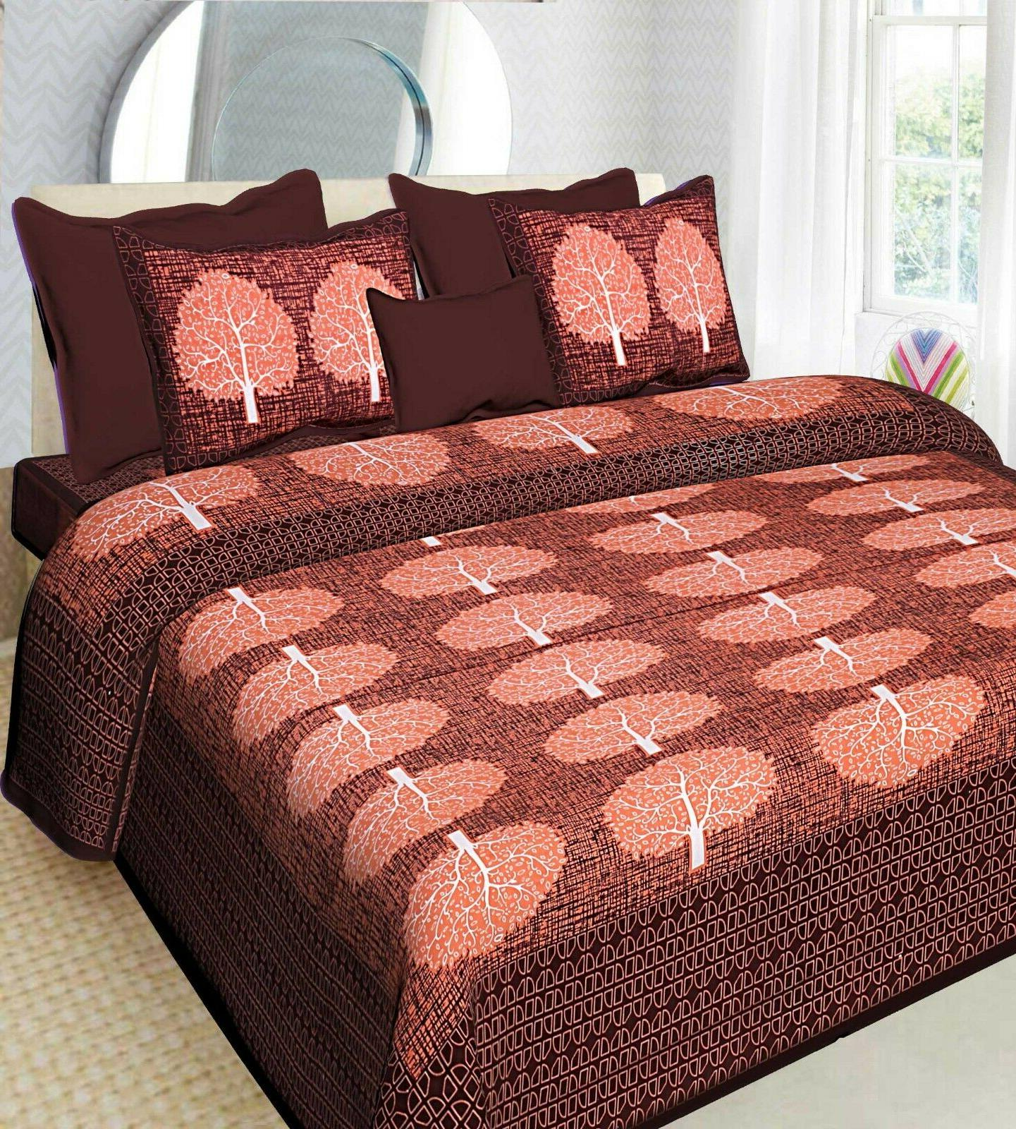 Indian Print Bed Sheets Color
