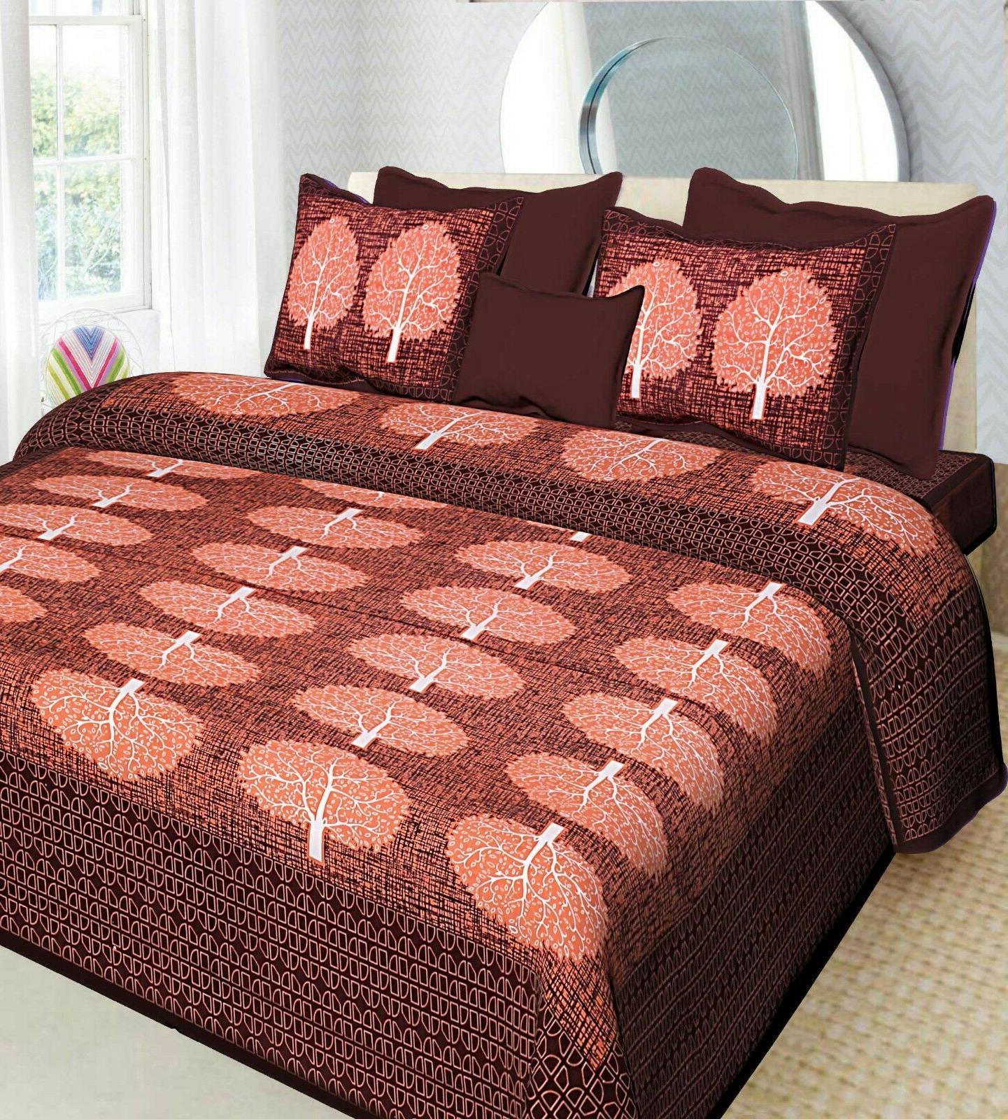 indian print cotton bed sheets and pillowcases