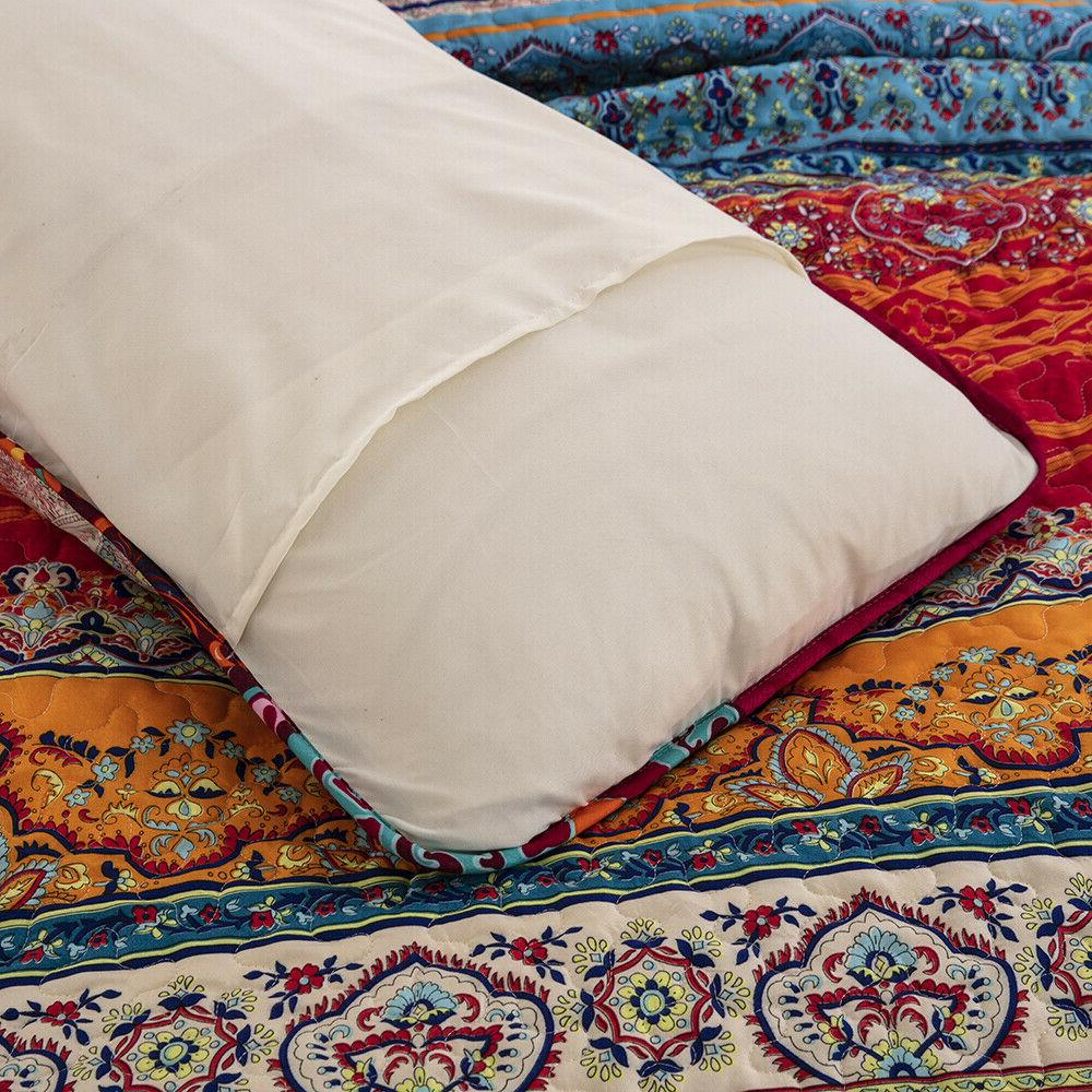 Lightweight Printed Soft Bedspread Coverlet Queen King Bedding