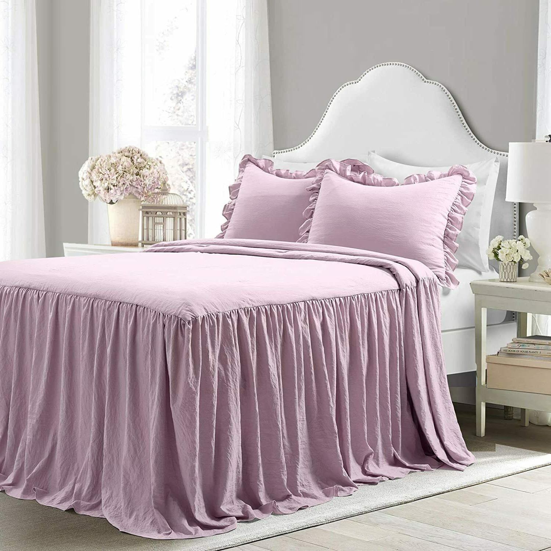lush decor purple ruffle skirt bedspread full