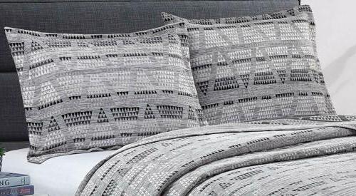 Luxor Chenille Stripe Coverlet Set