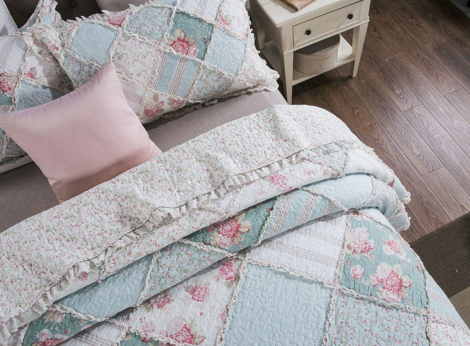 DaDa Bedding Pastel Pink Cotton Ruffle