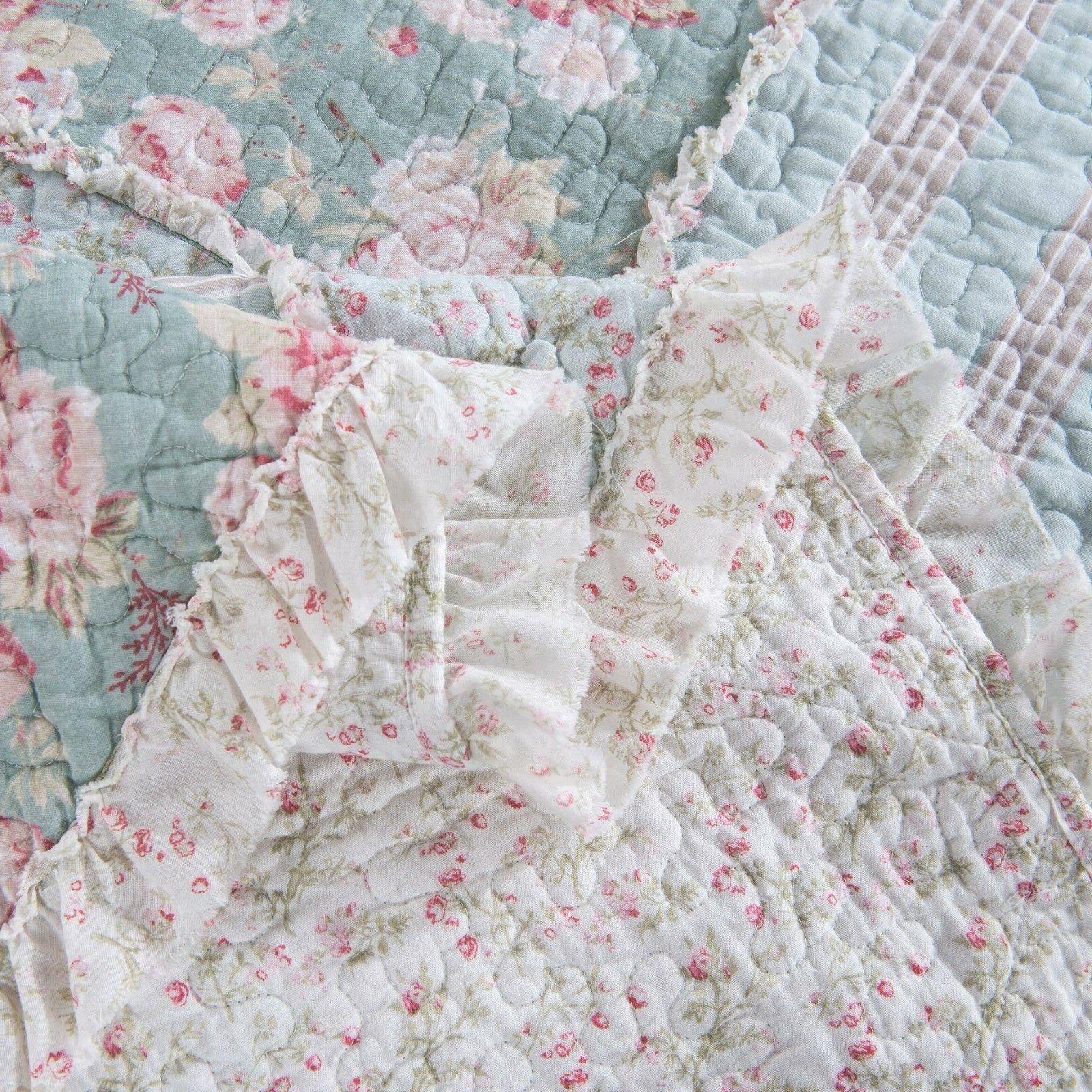 DaDa Pastel Pink Patchwork Ruffle Set