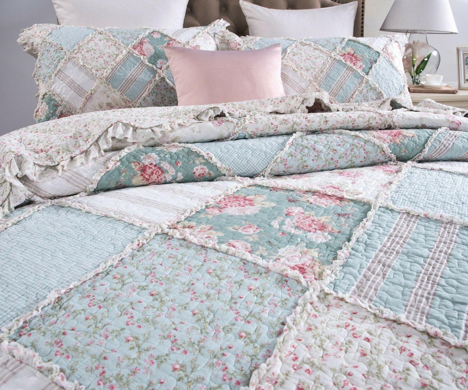 DaDa Pastel Pink Ruffle Bedspread Set