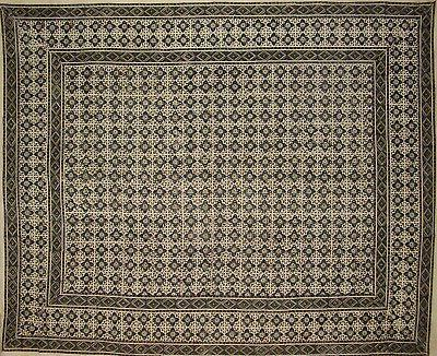 """Moroccan Print Indian Tapestry Bedspread 108"""" x 88"""""""