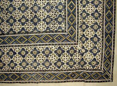moroccan block print indian tapestry cotton bedspread