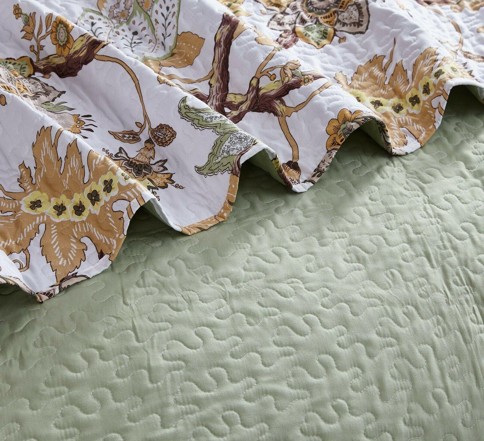All 3pc Printed Modern Bedspread Coverlet Set
