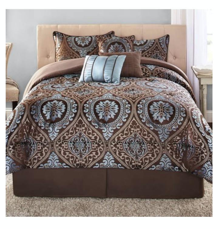 new 7 piece king size comforter set