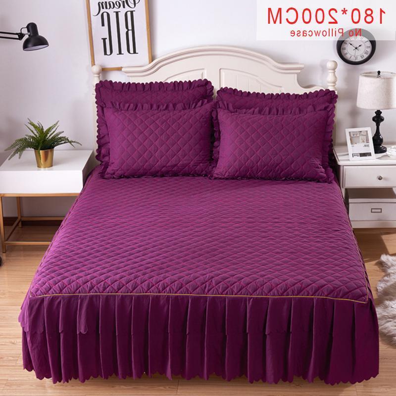 Pink Grey Cotton <font><b>Skirt</b></font> Mattress Twin <font><b>Bed</b></font> <font><b>Skirts</b></font> <font><b>Bedspread</b></font> bedding