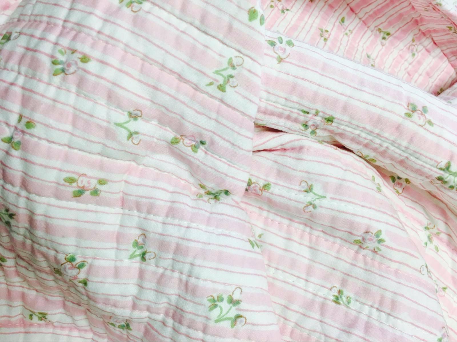 Pink Lace Cotton Set, Bedspread, Coverlet