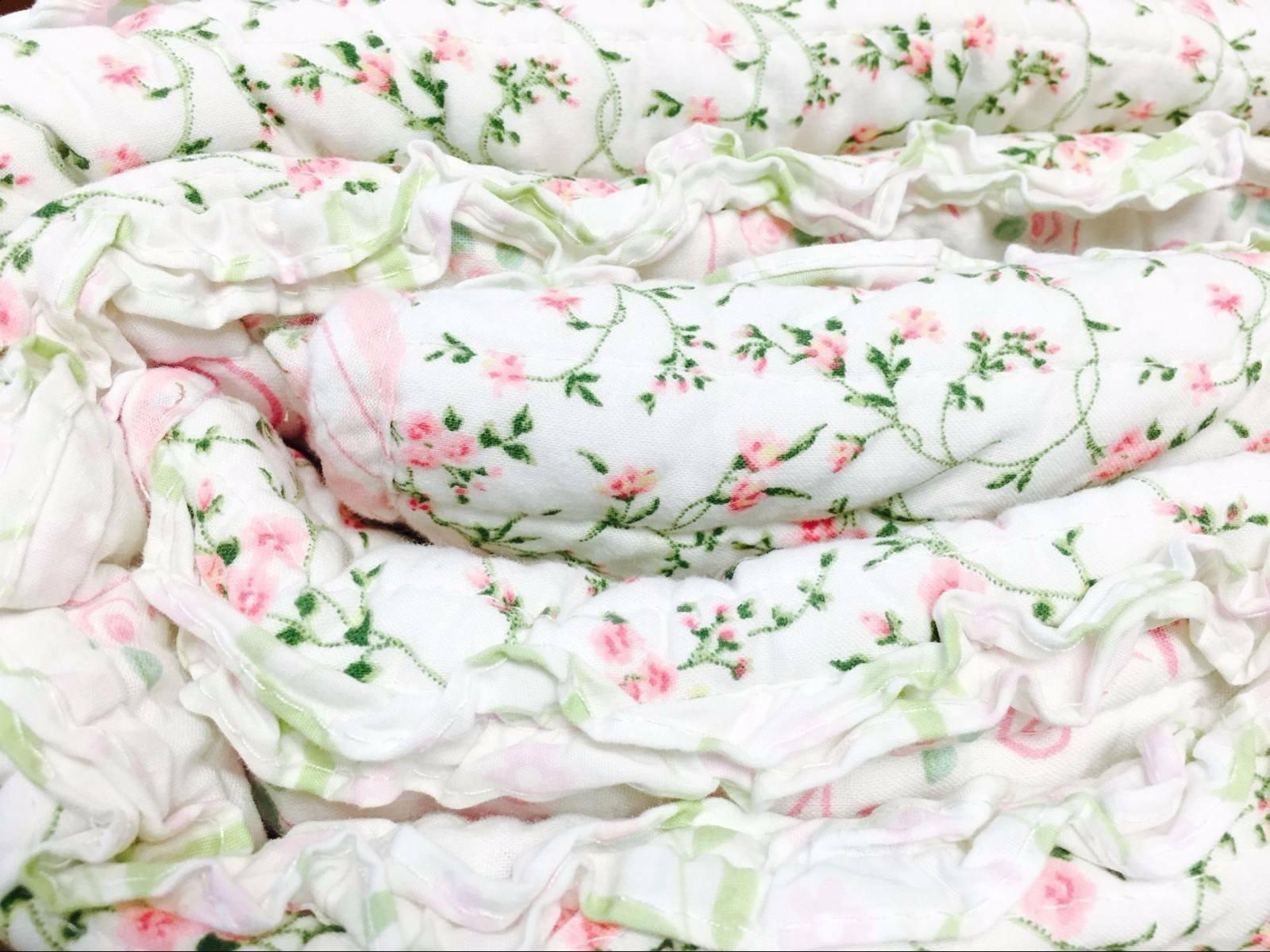 Pink Embroidered Lace 100% Cotton Quilt Set, Bedspread, Coverlet