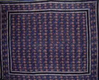 Primitive Paisley Block Tapestry x