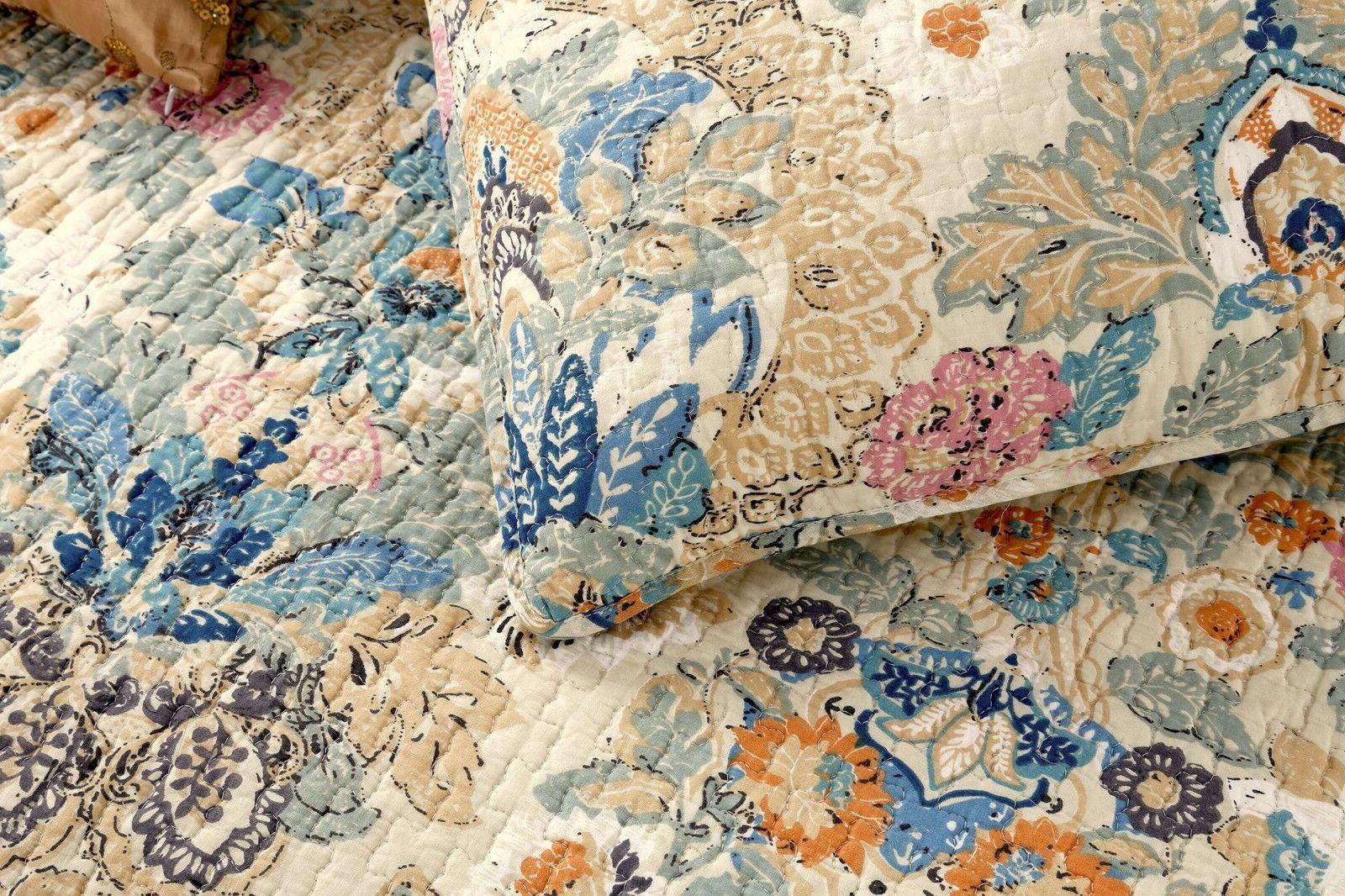 Pylle 100%Cotton Quilt Bedspread, Coverlet