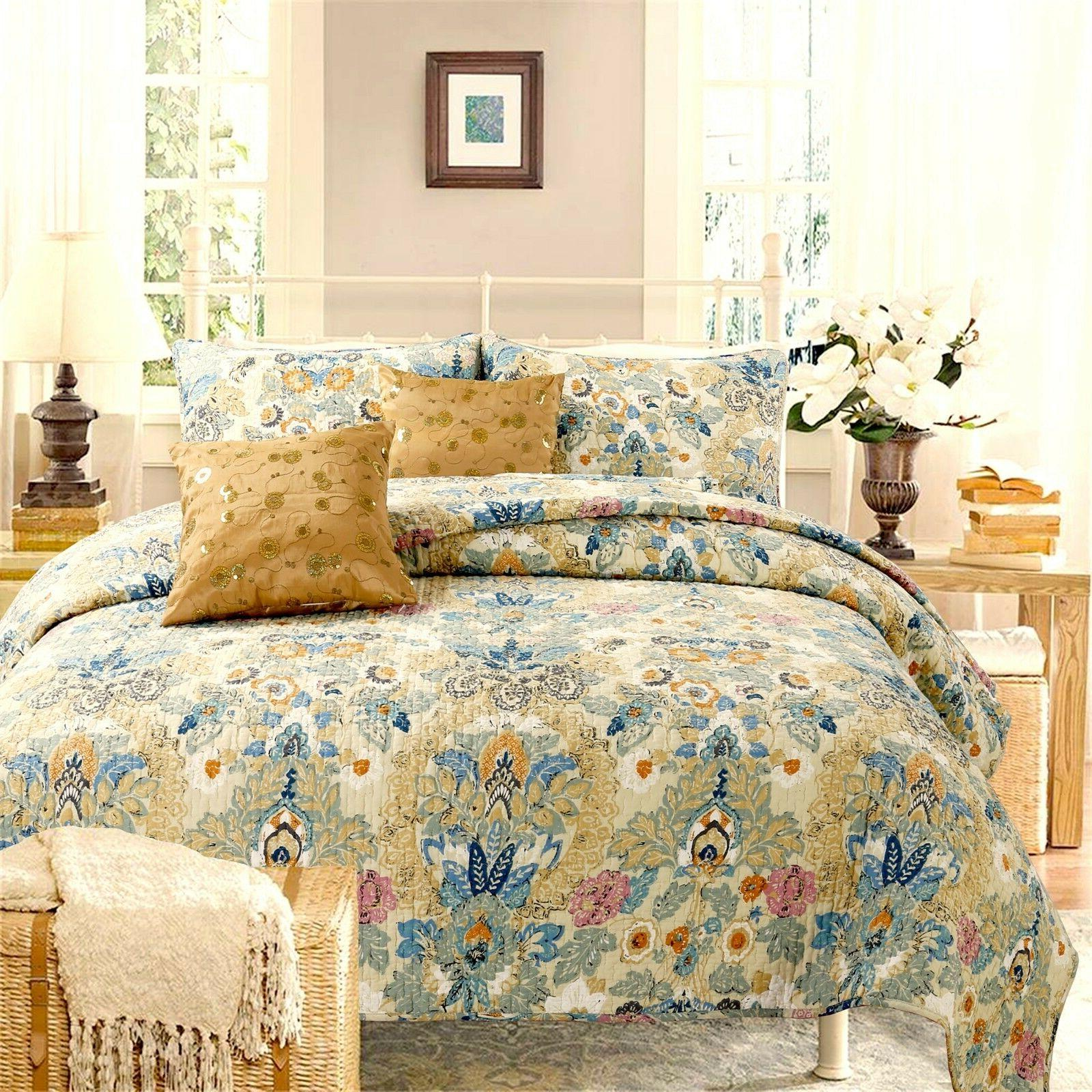 pylle hill floral reversible 100 percent cotton