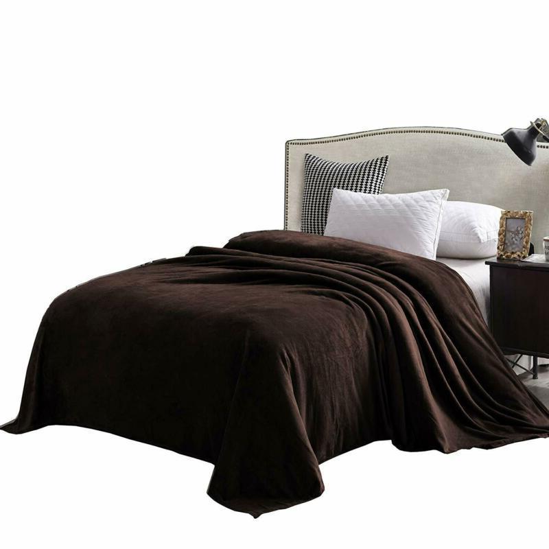 Exclusivo Mezcla Queen Size Flannel Fleece Velvet Plush Bed