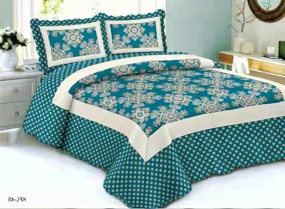 Quilted Comfort Bedspread Set Queen/King/Cal King piece
