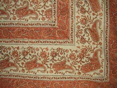 rajasthan block print paisley tapestry cotton bedspread