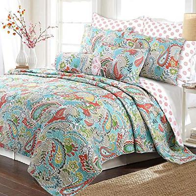 reversible quilt bedding set bedspread coverlet 1