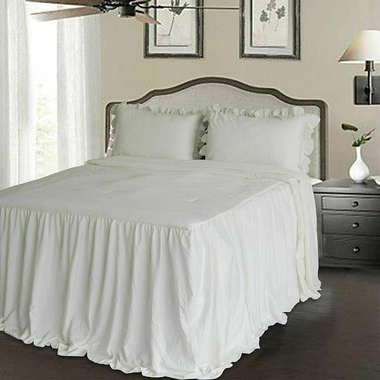 Ruffle Bedspread - Chic Farmhouse