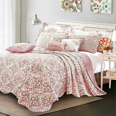 Serenta 9 Piece Striped Bedspread