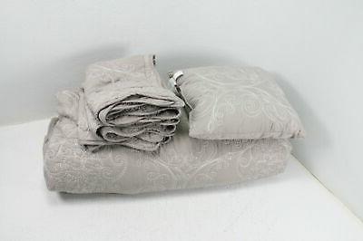 serenta damask 4 piece bedspread set king