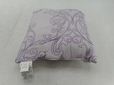Home Damask Bedspread Set, Lavender