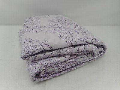 Home Things Damask 4 Piece Set, Lavender