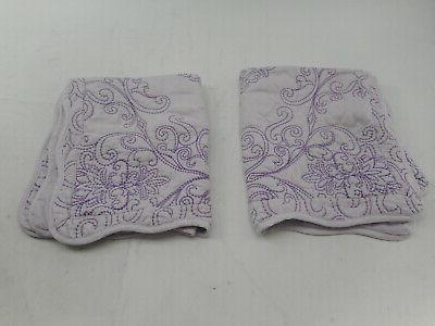 Home Damask Piece Bedspread Set, Queen, Lavender Fog