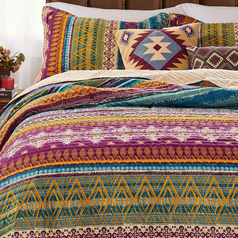 King Size Bedding Southwest Quilt Set 3Pc 100%