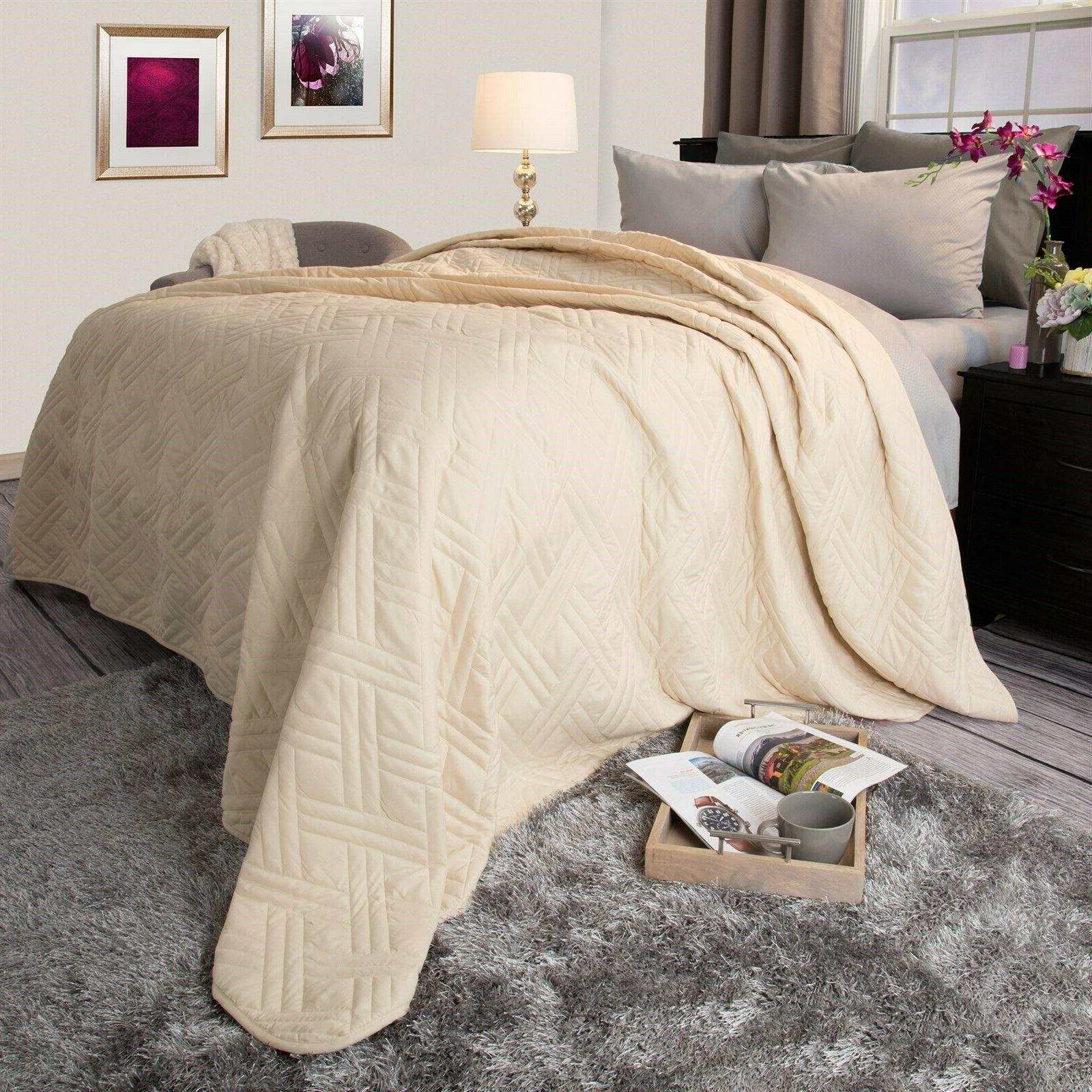 solid color quilted lightweight blanket comforter choice