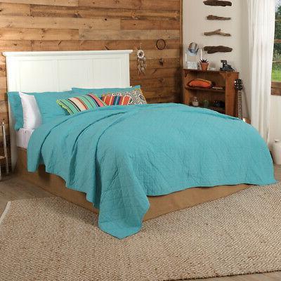 vhc rustic cotton quilt king queen bedspread
