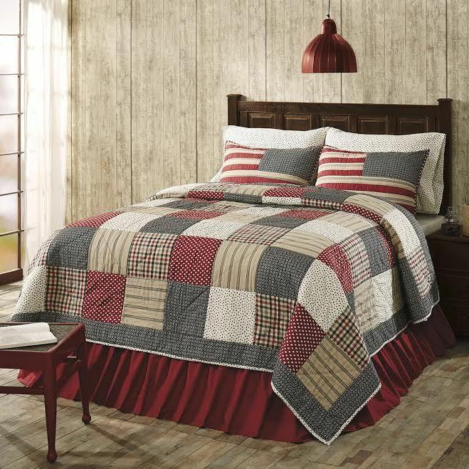 Victory Americana **King Size** 3 Pc Quilt Set Cotton Patchw