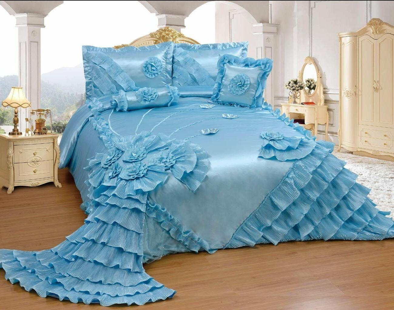 OctoRose Bedspread Set or SKIRT or PILLOWCASES