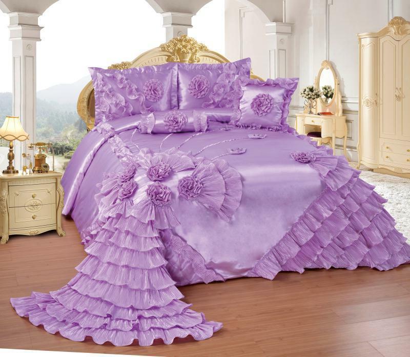 OctoRose Wedding Comforter Bedspread or SKIRT